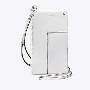 Tory Burch Block-T Metallic Phone Lanyard